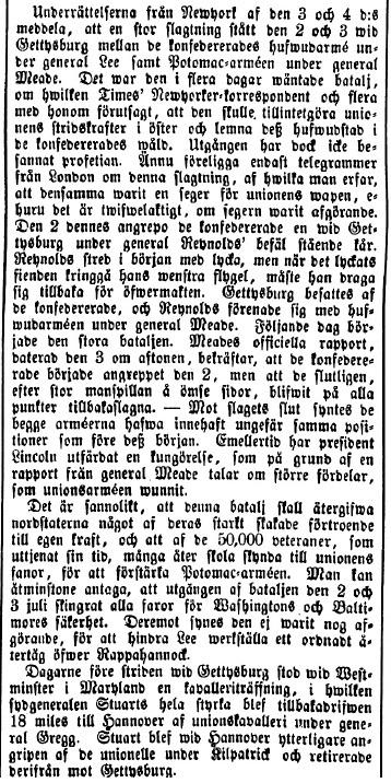 Tidning för Wenersborgs Stad och Län den 21 juli 1863.