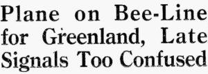 19280819 Plane on Bee-Line