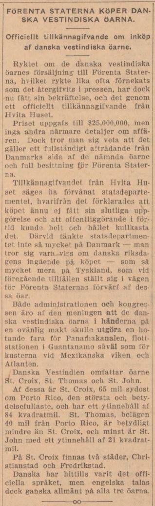 Källa: Vestkusten, 1915-08-03.
