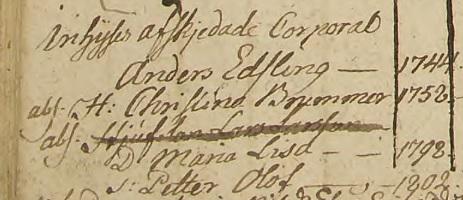 Familjen Edsling-Brummer, Brålanda fattighus 1805-1818. Källa: ArkivDigital: Brålanda AI:4 (1802-1807) bild 22 / sidan 16.
