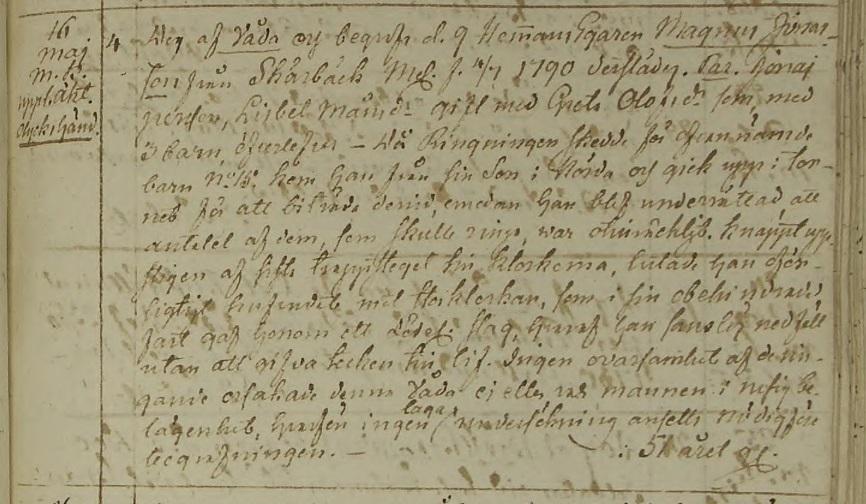 Källa: ArkivDigital: Ramkvilla C:4 (1804-1846) Bild 184 / sid 360.