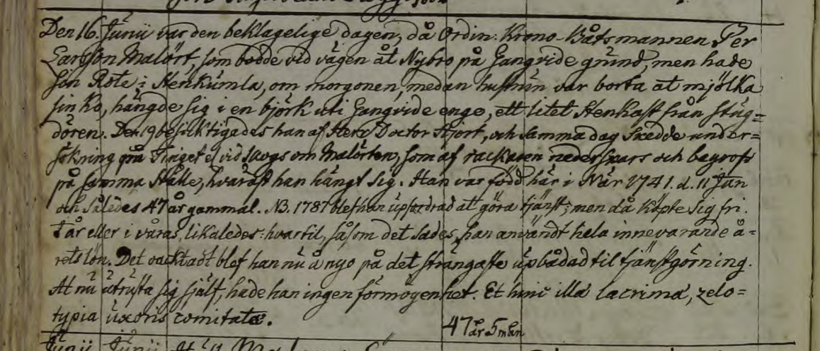 Källa: ArkivDigital: När CI:3 (1777-1860) Bild 2040 / sid 197.