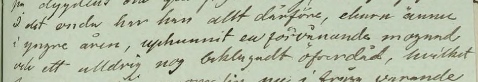 """""""I det onda har han allt därföre, ehuru ännu i yngre åren, uphunnit en förvånande mognad och ett alldrig nog beklagadt öfverdåd..."""" Källa: ArkivDigital: Västra häradsrätt AI:178 (1826-1826) Bild 10200."""