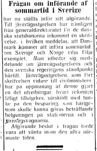 Sommartid, Dalpilen 19160428