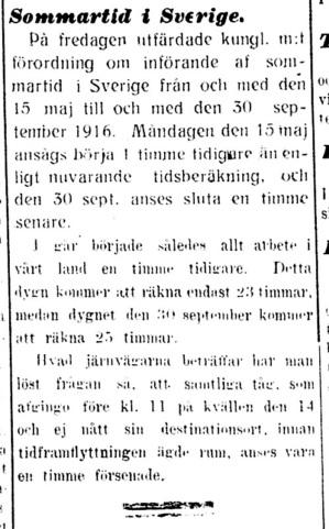 Sommartid, Dalpilen 19160516
