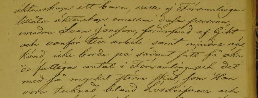 """""""...ville ej Församlingen tillåta äktenskap emellan dessa personer..."""" Källa: ArkivDigital: Sunnemo KI:2 (1826-1844) Bild 62 / sid 118."""
